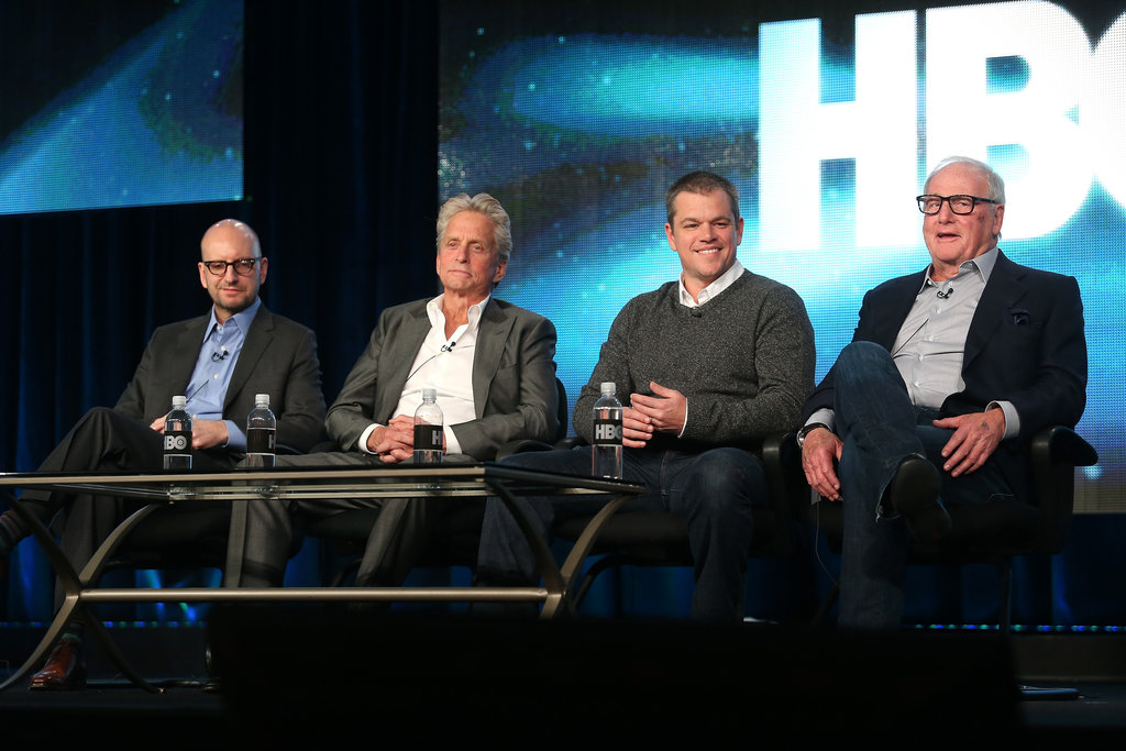 Matt Damon, Steven Soderbergh, Jerry Weintraub, and Michael Douglas took the stage at the HBO Winter 2013 TCA.