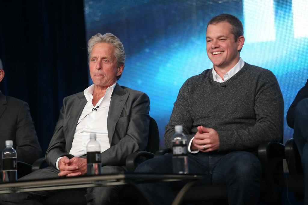 Matt Damon and Michael Douglas took the stage at the HBO Winter 2013 TCA Panel in Pasadena.