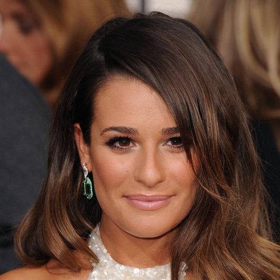 Lea Michele | Golden Globes Makeup 2013