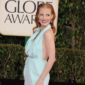 Jessica Chastain in Calvin Klein at 2013 Golden Globes