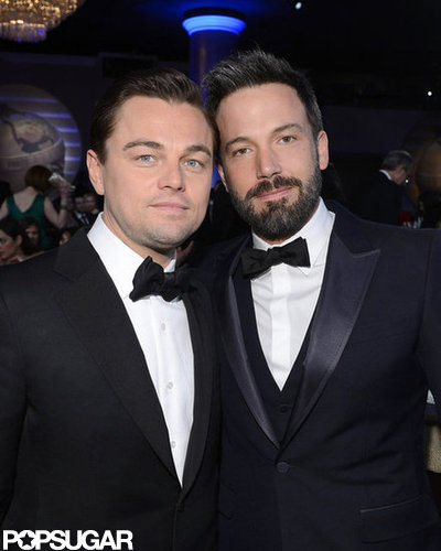 Leonardo DiCaprio and Ben Affleck hung out at the Golden Globe Awards.
