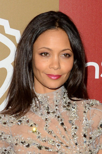 Thandie Newton wore a soft pink lip.