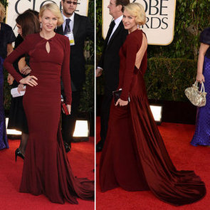 Pics of Naomi Watts in Zac Posen at the 2013 Golden Globes