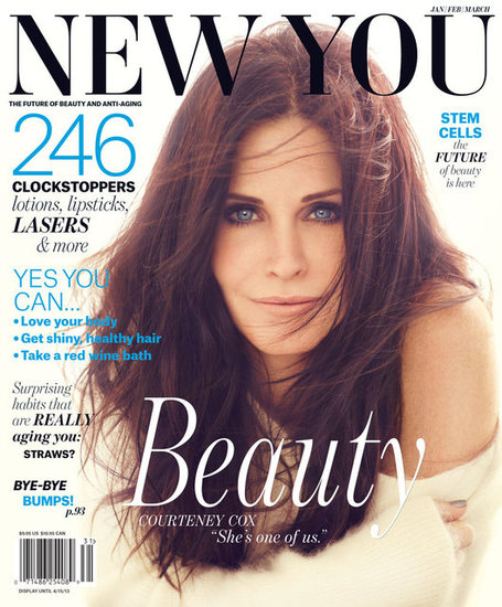 Courteney Cox graced the cover of New You magazine. 