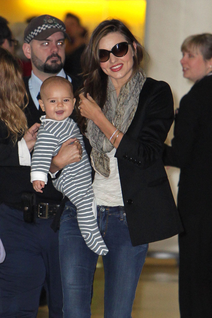Flynn was all smiles when he landed in Sydney for the first time with Miranda Kerr in July 2011.