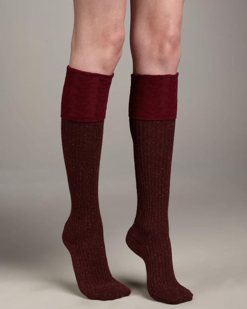 Falke's Ribbed Knee-High Socks ($16, originally $36) are made from a super dense knit, thus, super cozy.
