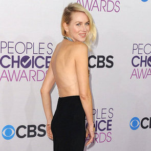 Naomi Watts in Gold Backless Gown at People's Choice Awards