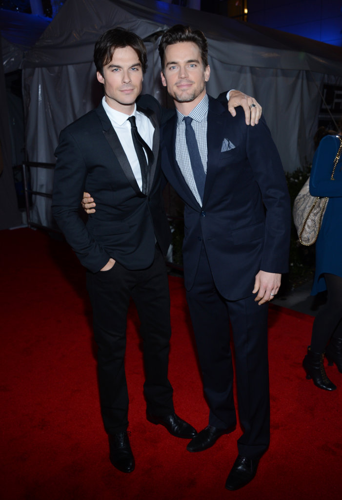 Ian Somerhalder and Matt Bomer had their arms around each other on the red carpet.