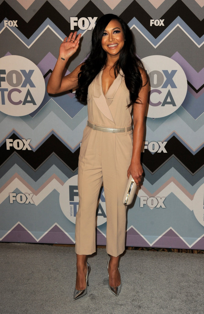 Naya Rivera waved on the red carpet.