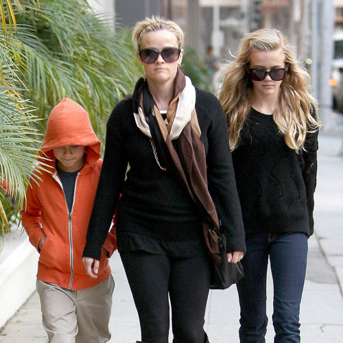 Reese Witherspoon With Her Daughter Ava and Deacon