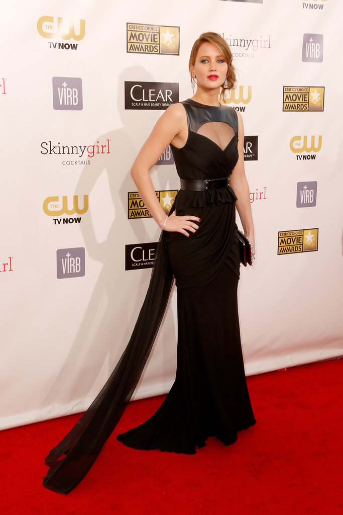 Jennifer Lawrence hit the red carpet at the Critics' Choice Movie Awards.