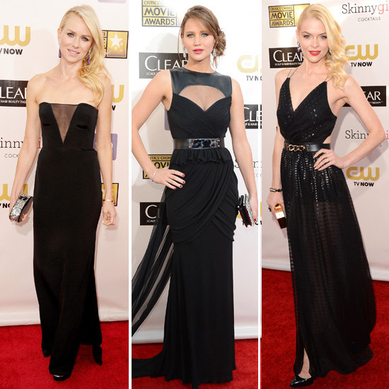 Black Gowns at Critics' Choice Awards 2013