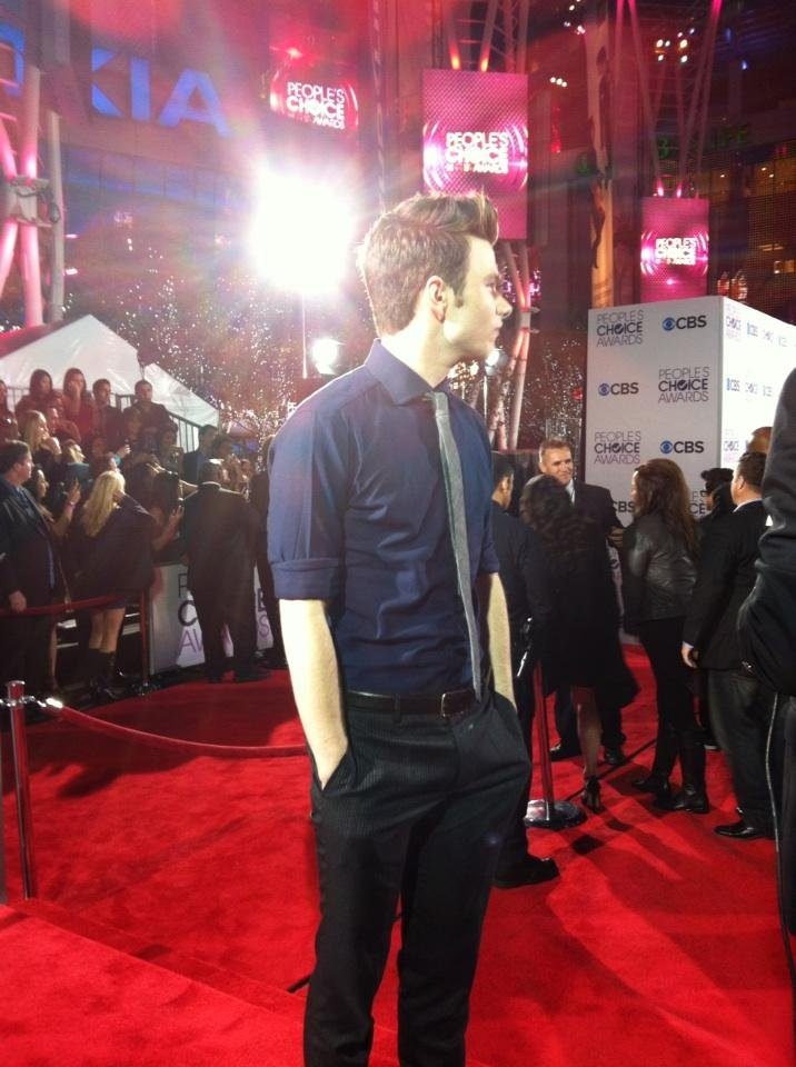 Glee's Chris Colfer looked dapper on the red carpet. Source: Twitter user peopleschoice