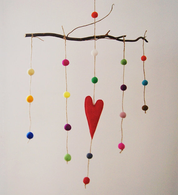 Red Heart Baby Mobile