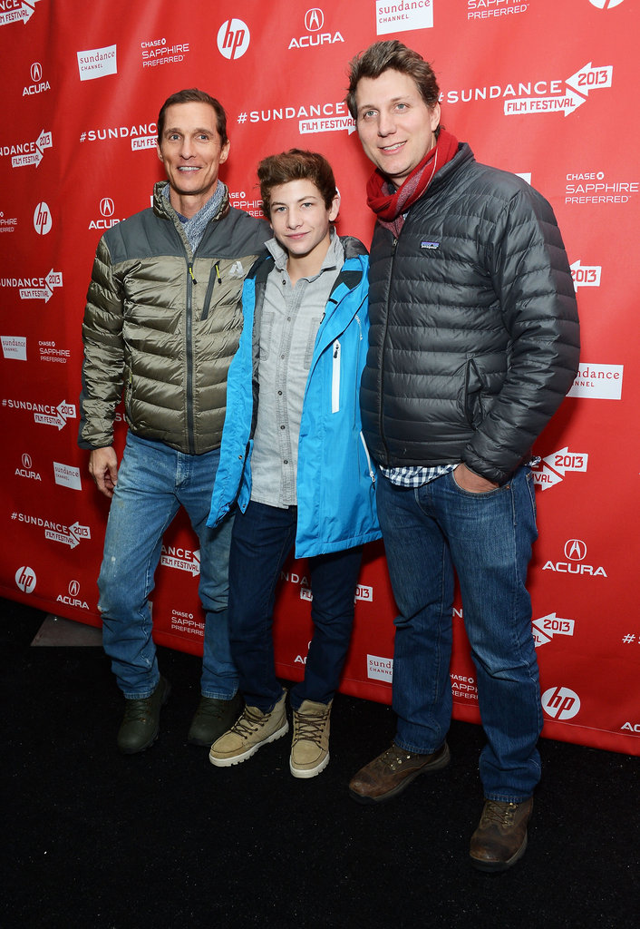 Matthew McConaughey posed with Tye Sheridan and Jeff Nichols.