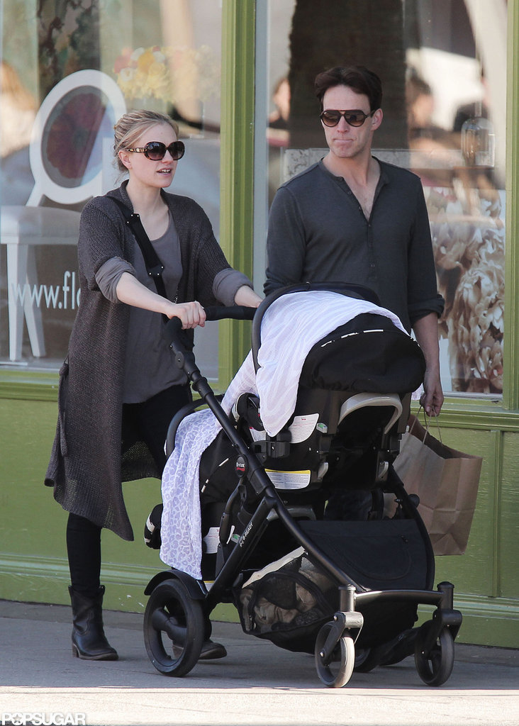 Stephen Moyer and Anna Paquin walked with their twins in LA.