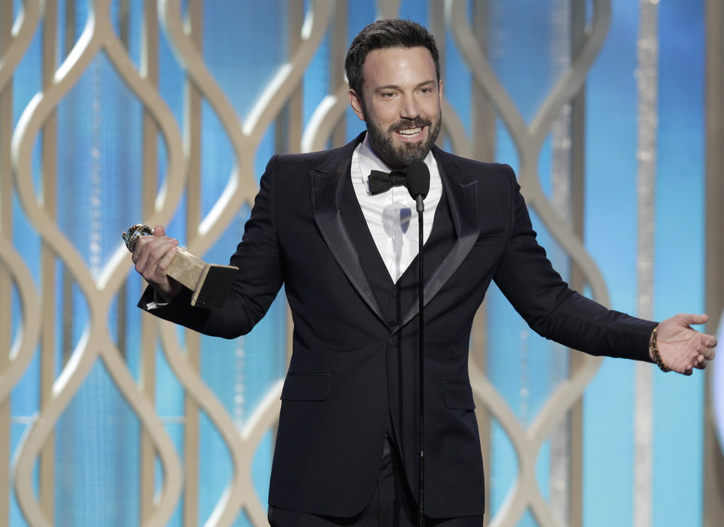 Ben Affleck graciously accepted his award.