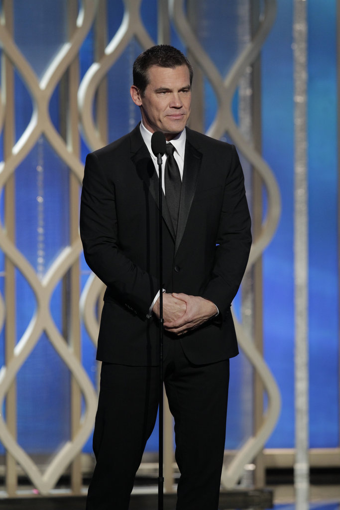 Josh Brolin presented at the Golden Globes.