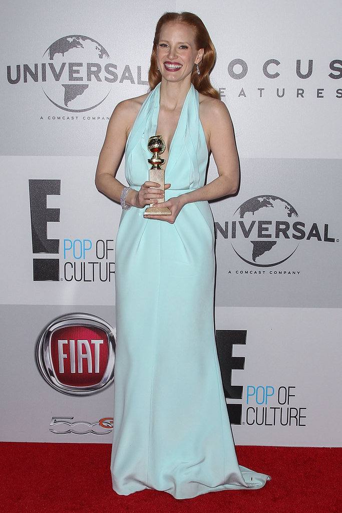 Jessica Chastain looked stunning light blue.