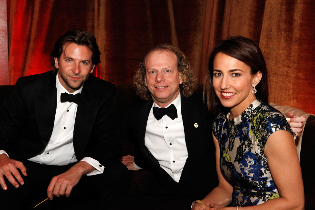 Bradley Cooper sat with pals during the Golden Globe afterparty in Beverly Hills.