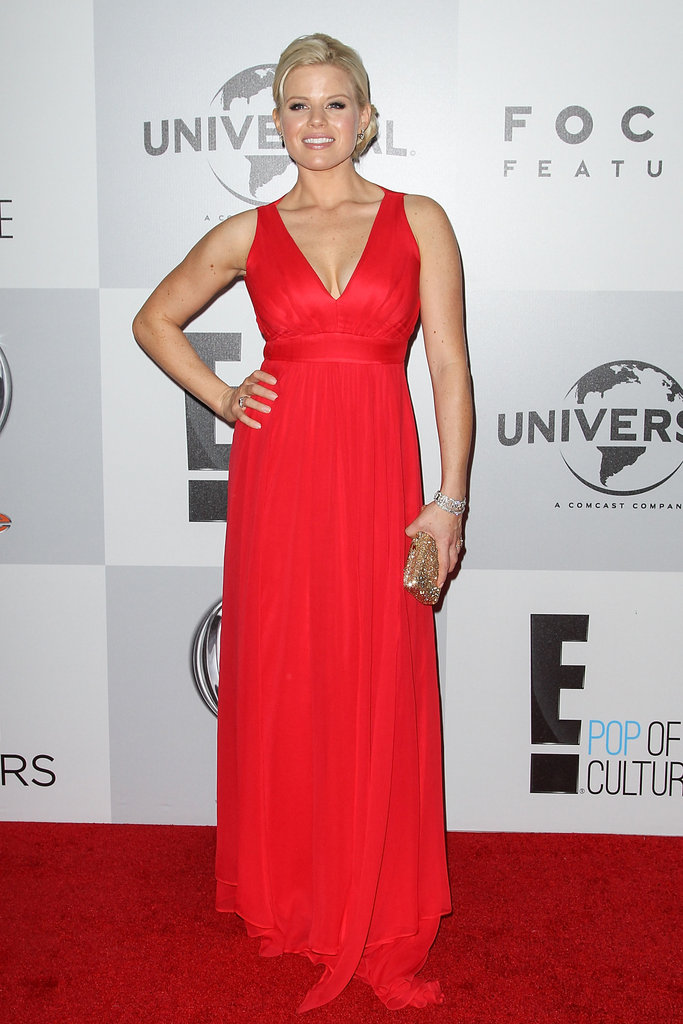 Megan Hilty wore red.