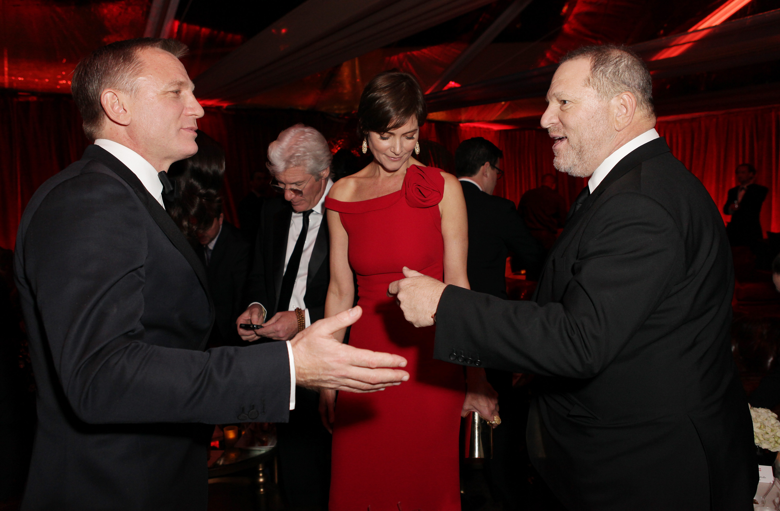 Host Harvey Weinstein greeted Mr. Bond himself, Daniel Craig.