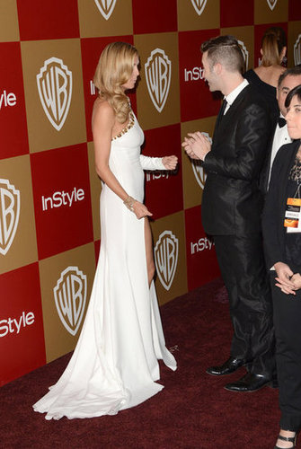 Heidi Klum arrived in white.