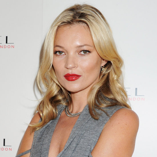 Celebrating her 10th year as the face of Rimmel London, Kate stepped up her wow factor with a statement lip and glossy locks.