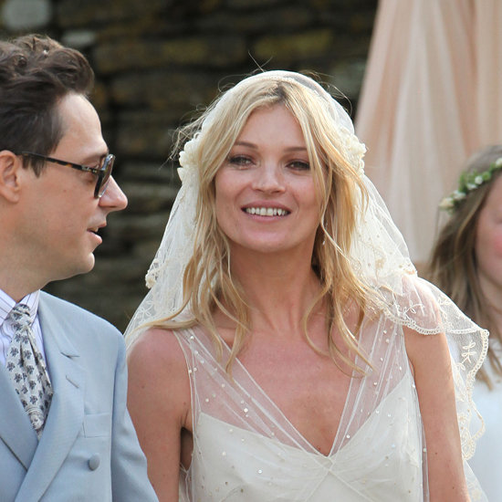 On her wedding day in 2011, Kate opted for natural, beachy waves and simple makeup.