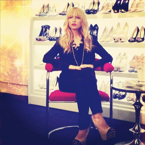 Rachel Zoe posed for photos in the ShoeDazzle offices. Source: Twitter user RachelZoe