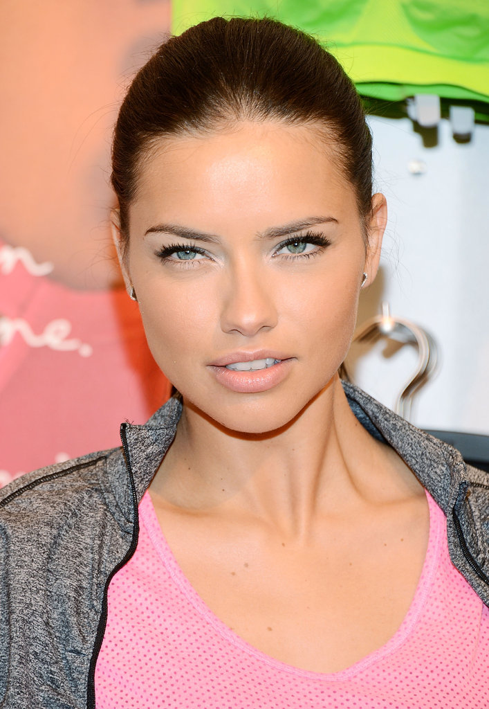 Adriana Lima posed for photographs at Victoria's Secret in NYC.