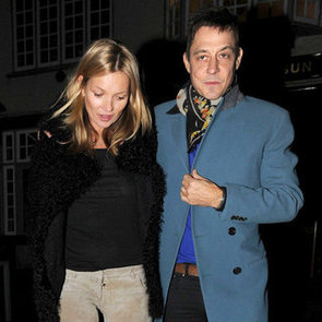 Kate Moss Pictures at Pub Dinner on 39th Birthday With Jamie
