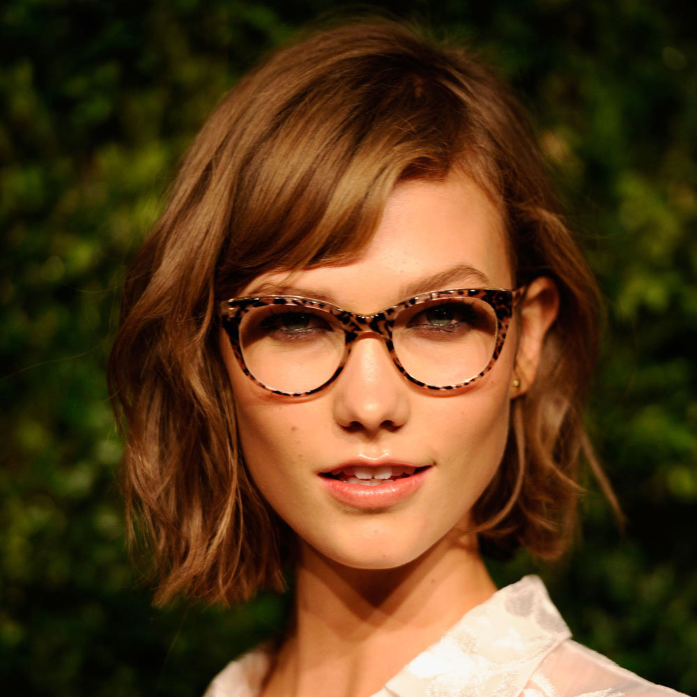 """I mean, just look at her! Karlie Kloss is my hair crush and I took her picture as inspiration to my hairdresser. I love the deep side part and the texture she creates with her new bob. I'm using salt spray to get the same effect."" — Alison, BellaSugar editor"