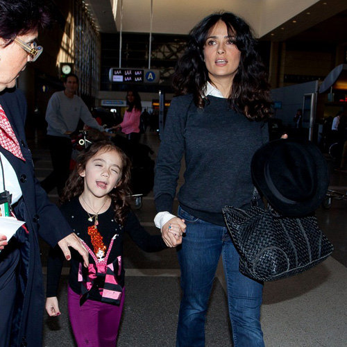 Salma Hayek and Daughter Valentina at LAX | Pictures