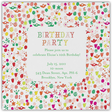 Digital Birthday Party Invitations For Kids
