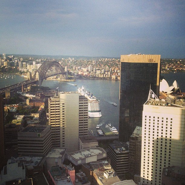 View from the top: Engagement drinks for BellaSugar editor Alison were held at O Bar & Dining in Sydney's CBD — 47 floors up and serving delish cocktails.