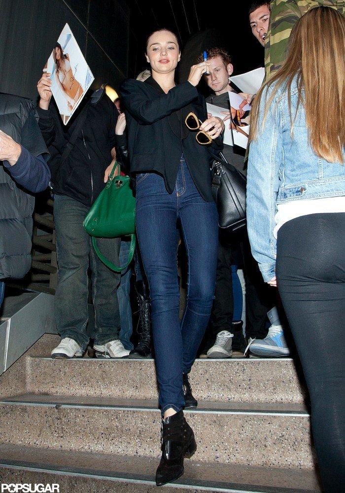 Miranda Kerr Makes a Chic Arrival in LA
