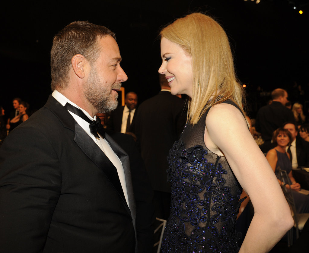 Nicole Kidman laughed with Russell Crowe.