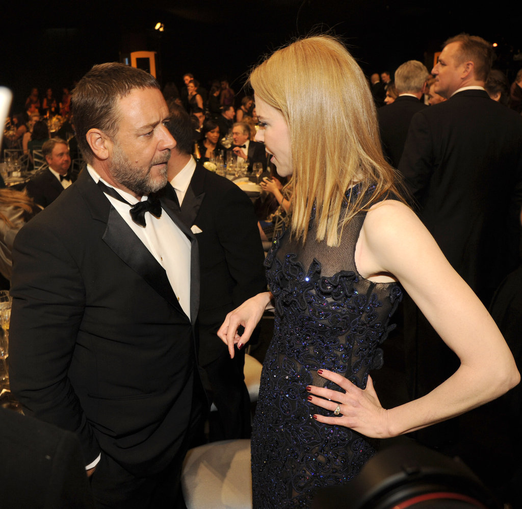 Nicole Kidman said hi to Russell Crowe.