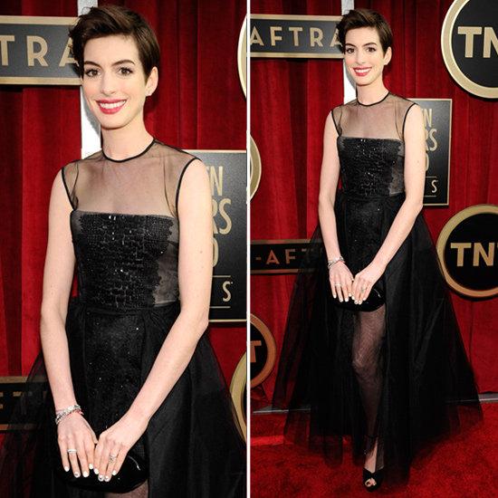 Anne Hathaway: SAG Awards Red Carpet Dresses 2013