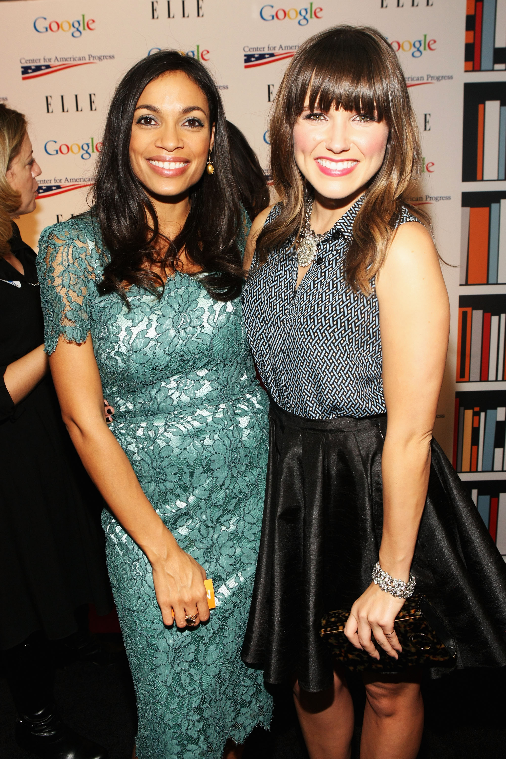 Rosario Dawson and Sophia Bush smiled pretty at a pre-inauguration event that honored leading women in Washington.