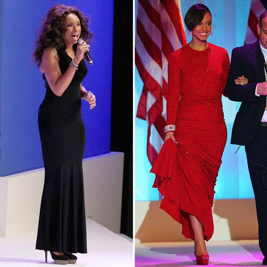 Jennifer Hudson and Alicia Keys at Inaugural Ball 2013