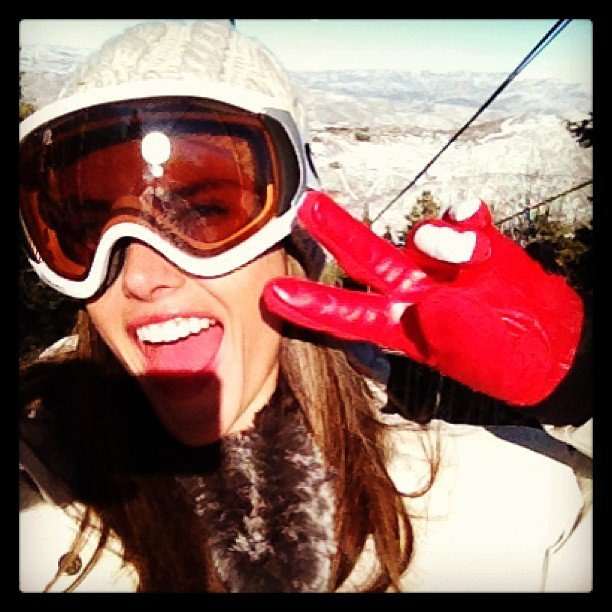 Alessandra Ambrosio hit the slopes in Park City, Utah. Source: Twitter user AngelAlessandra