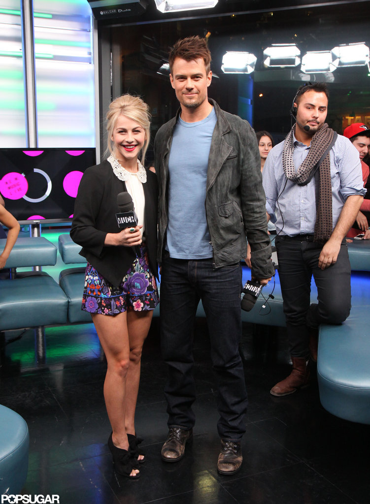 Julianne Hough and Josh Duhamel appeared on New.Music.Live.