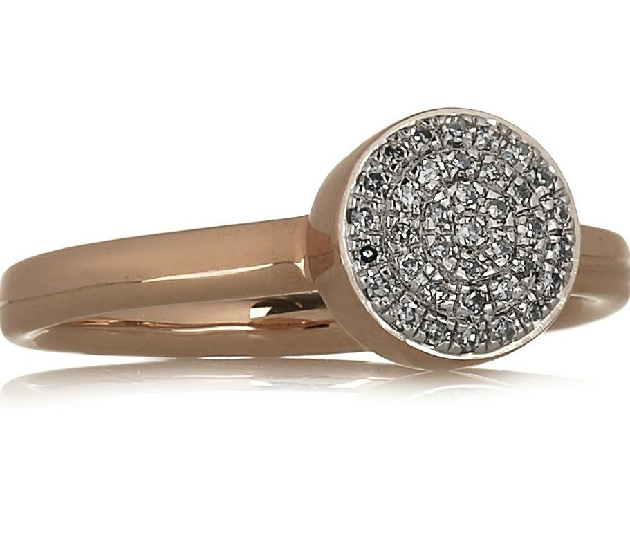 Classic and totally pretty — what more could you want from this Monica Vinader 18-karat rose gold diamond ring ($305)?