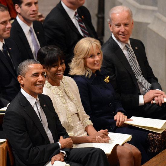Michelle Obama and Barack Obama at National Prayer Service