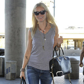 Gwyneth Paltrow Bird Tattoo at Airport Pictures