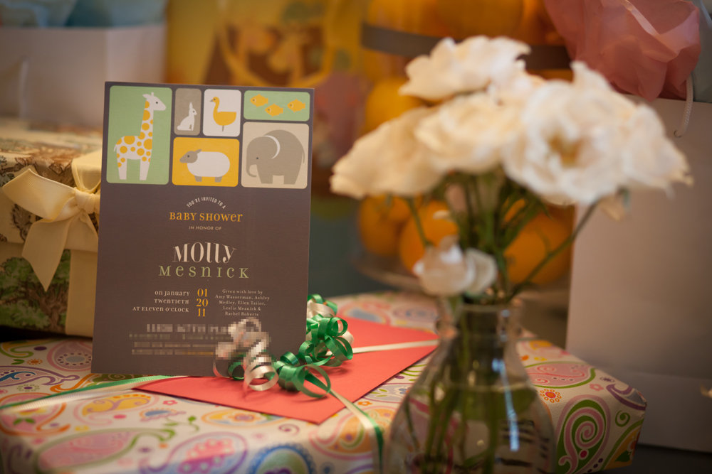 Minted Invitation and Party Decor