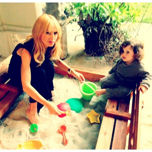 Skyler Berman found a sandbox playmate in mama Rachel Zoe this week.  Source: Instagram user Rachel Zoe
