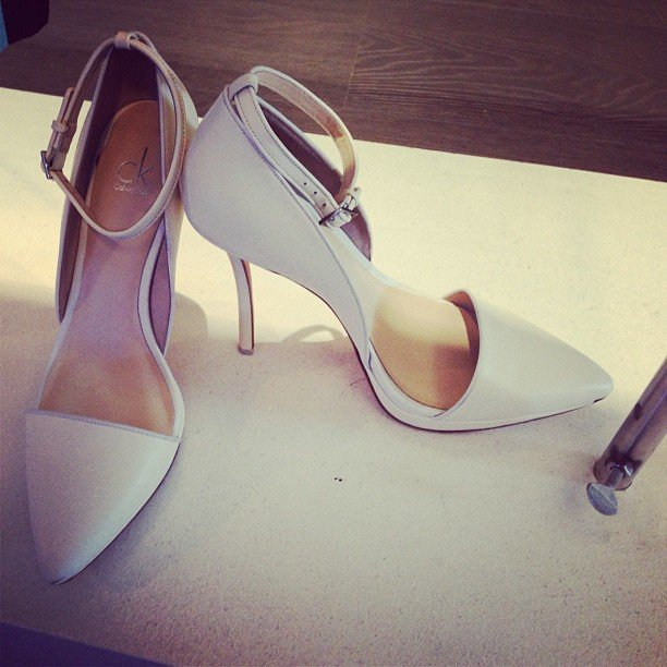 Calvin Klein's jumped on the white shoe trend that Ali's been drumming into us for months now. . .